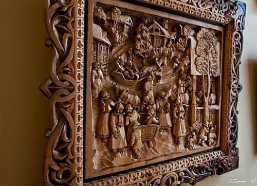 Wood carving by Kronid Gogolev