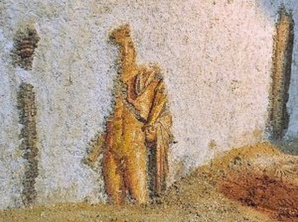 Top Five Archaeological Discoveries of 2011. fine wall mosaic of the Greek god Apollo
