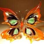 Butterfly glass sculpture