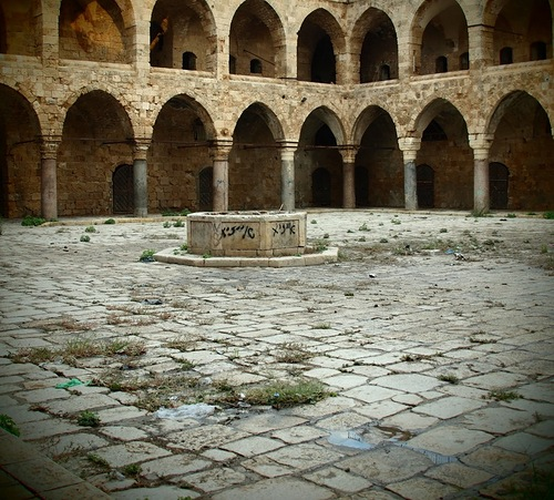 Archaeological Discoveries of 2011. the ancient site of Khan al-Umdan in the old city of Acre in Israel