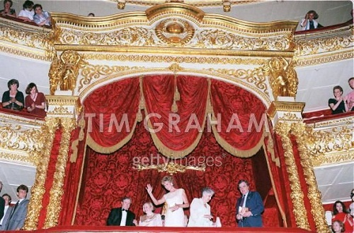 visiting the Bolshoi Theater. Ballet 'Les Sylphides', June 15, 1995