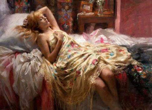 Vicente Romero Redondo and his tender women