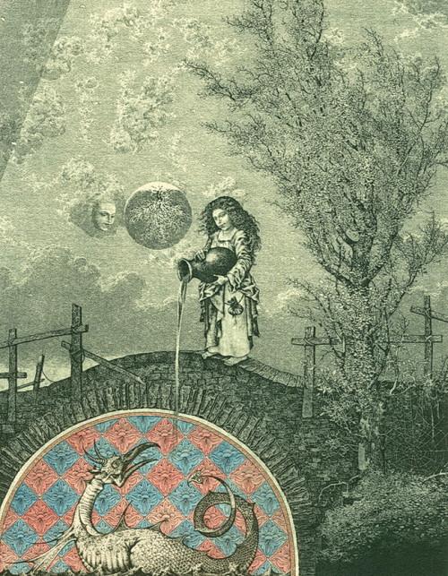 Bestiary of the Apocalypse (autumn). Etching, drypoint, mezzo Tinto