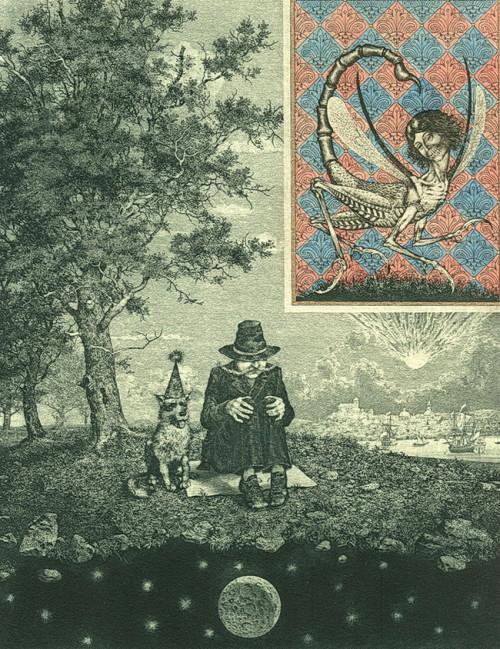 Bestiary of the Apocalypse (summer). Etching, drypoint, mezzo Tinto