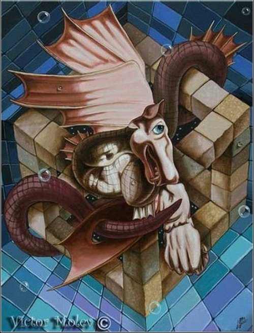 Dali. Painting by Russian artist Victor Molev