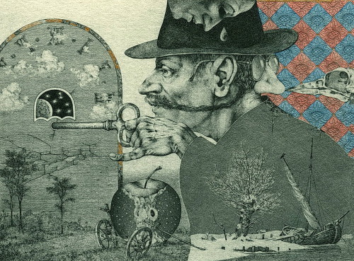Large watchmaker. etching