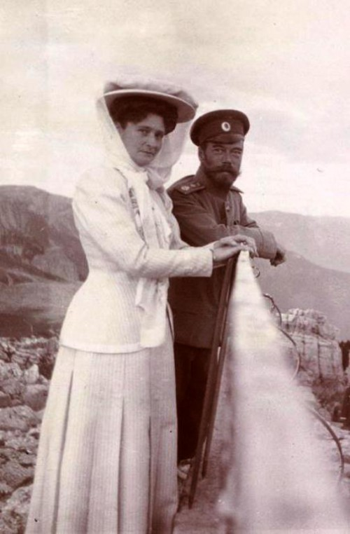Last Russian Emperor Nicholas II with his wife Alexandra