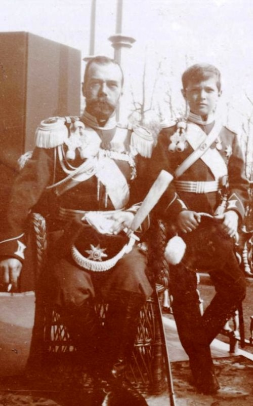 Nicholas II with his son Prince Alexei