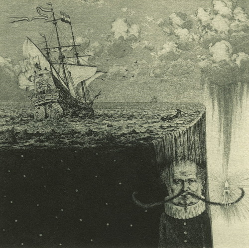 The end of a sentimental journey. Etching, mezzo tinto, drypoint (The image can be enlarged)