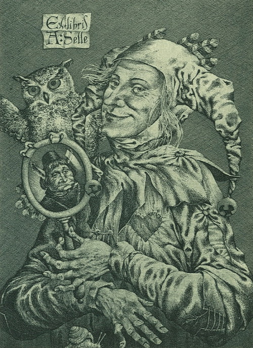 Till Eulenspiegel. bookplate (The image can be enlarged)
