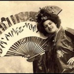 A poster promoting Traditional female Japanese entertainers