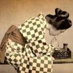 old photo of Geisha