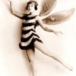 Beautiful Geisha wearing bee costume