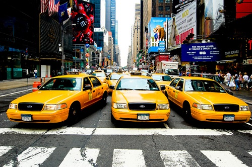 Yellow taxi, New York
