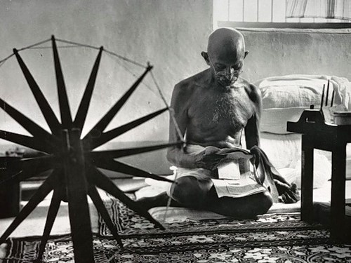 Gandhi became famous by fighting for the civil rights of Muslim and Hindu Indians in South Africa, using new techniques of non-violent civil disobedience that he developed