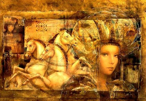 Painting by Csaba Markus