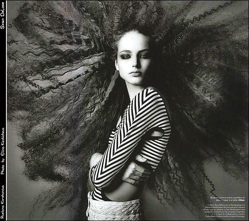 Beautiful Russian supermodel Ruslana Korshunova