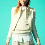 Blonde fashion androgynous model Andrej Pejic