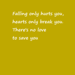Falling only hurts you