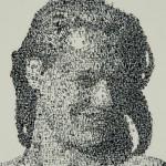 Date stamp pointillism painting by Italian artist Federico Pietrella