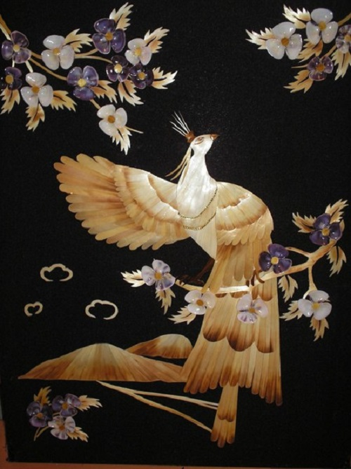 Straw painting by Russian artist Valery Kozlov