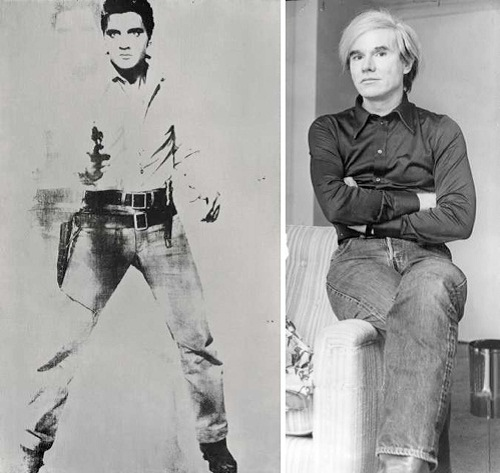 iconic portrait of Elvis Presley by Andy Warhol