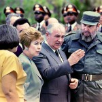 Fidel Castro and Mikhail Gorbachev