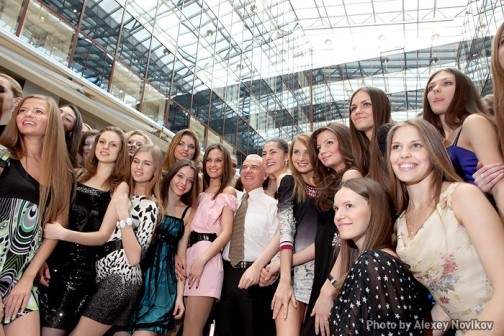 Miss Russia 2010 contestants learning to waltz