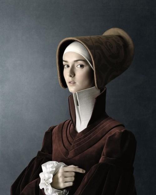 1503, Ritratto di giovane, donna, Portrait of young woman. Photoart by Christian Tagliavini