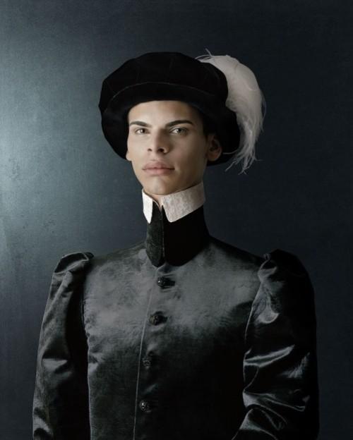 1503, Ritratto di giovane uomo con cappello piumato. Portrait of a young man with plumed hat. Photoart by Christian Tagliavini