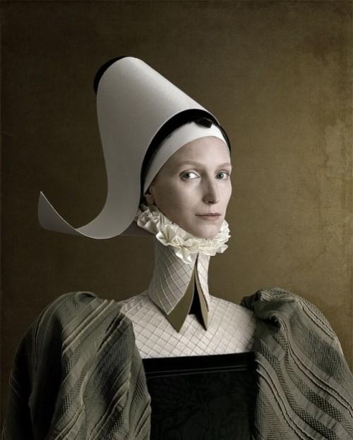 1503, Ritratto di signora in verde. Portrait of a lady in green. Photoart by Christian Tagliavini