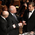 Mikhail Gorbachev and actor Leonardo DiCaprio