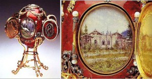 Caucasian egg. Made in the jewelry firm of Carl Faberge in 1893, master M. Perkhin.