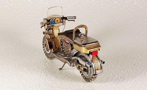 motorcycles made of vintage timepieces