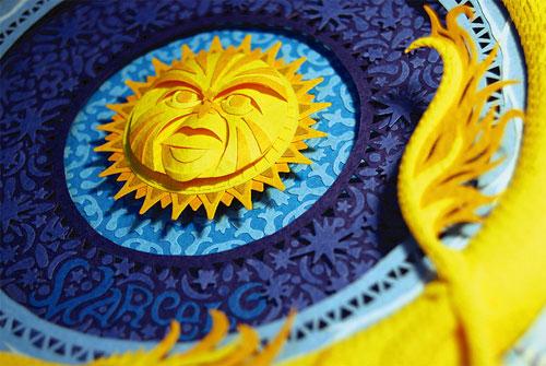 3D paper art by Brazilian artist Marcelo Kato