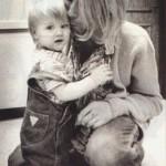 Kurt and Frances Bean Cobain