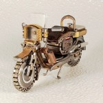 Miniature motorcycles made by Dmitry Khristenko