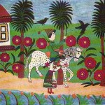 Farm animals. Naive art by Maria Prymachenko