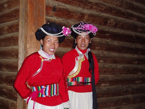 Women of tribe Mosuo
