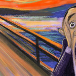 Obama, India trip, scream edvard munch taj mahal sad hill news