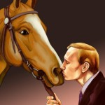 """Kitsch art tribute to Vladimir Putin """"A man with a heart of gold'"""