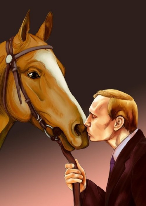 'A Man with a Heart of Gold' - Kitsch art tribute to Vladimir Putin
