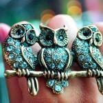 Brooch - Owls
