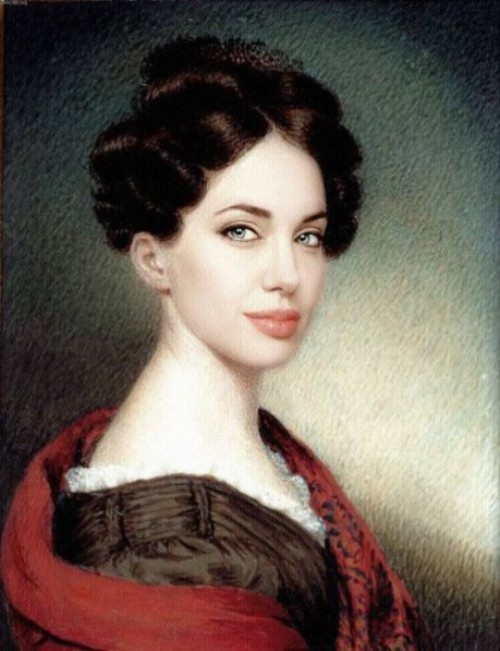 Paintings of Modern Day Celebrities Angelina Jolie