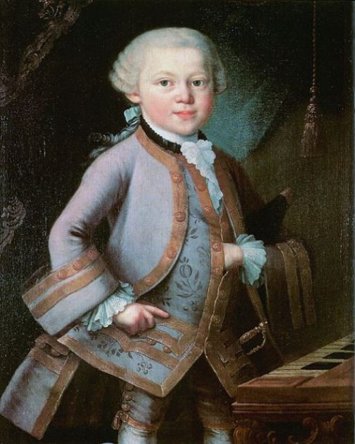 Anonymous portrait of the child Mozart, possibly by Pietro Antonio Lorenzoni; painted in 1763 on commission from Leopold Mozart