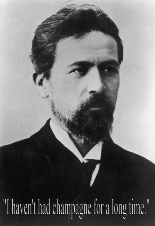 Anton Chekhov last words of famous people