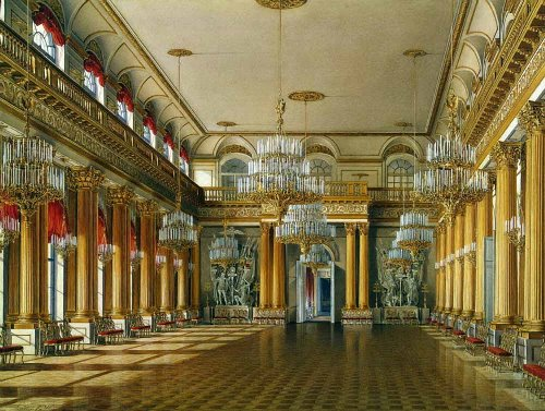 Armorial Hall. Watercolor on paper. Hermitage. The State Hermitage Museum by Eduard Hau