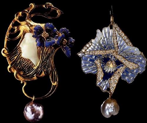 Art Nouveau jewellery by French designer Rene Lalique