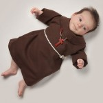 And probably a monl… Baby June dressed as a monk. Photo project by American photo artist Eric Maloberti