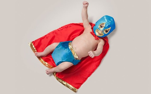 Baby superhero. One Day My Child You Will Be